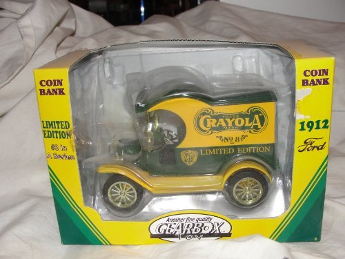 1998 Ltd Ed Crayola Gearbox 1912 Ford Delivery Truck #3 Die Cast Bank - 1