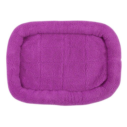 Slumber Pet Small Sherpa Dog Crate Bed, Lavender front-615955