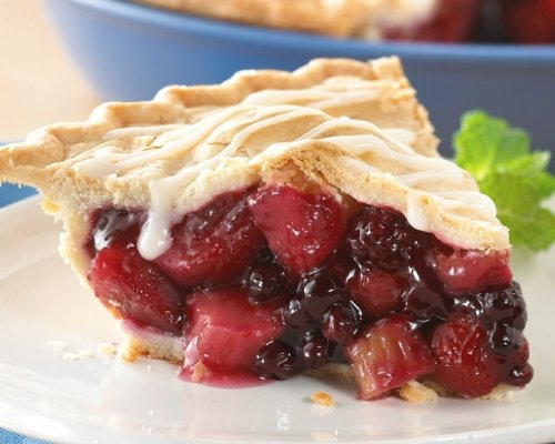 SCHWAN'S Triple Berry, Apple, Rhubarb Pie with Vanilla Sauce - Limited Availability