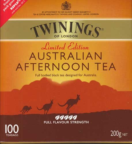 Twinings Of London Australian Afternoon Tea - 100 Tea Bags - Full Bodied Black Tea Designed For Australia