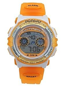 Aivtalk Kid Cute Watch Led 50M Water Resistant Digital Sports Watch Girls Gift Wristwatch With Time,Date,Week,Count Digit,Chime,El-Light - Orange