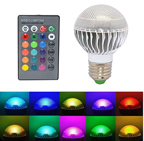 Tonsee E27 10W RGB LED Licht Farbwechsel Lampe mit Fernbedienung