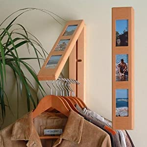 """InstaHANGER """"Picture Perfect"""" Folding Clothes Hanger (Natural) (17.75"""" H x 3"""" W x 2"""" D)"""