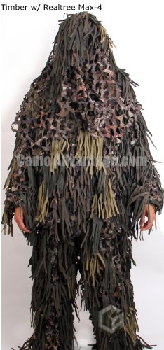 Jackal Ghillie Suit (Timber w/Realtree Max4, ML)
