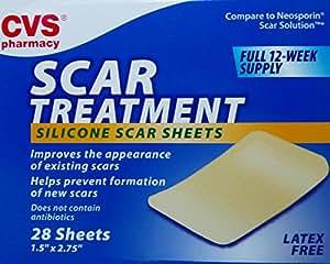 Amazon Com Cvs Scar Treatment Silicone Sheets Beauty