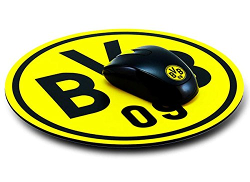 borussia dortmund mousepad emblem mauspad fan edition bvb 09 plus grati. Black Bedroom Furniture Sets. Home Design Ideas