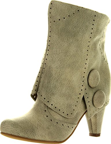Not Rated Women'S Cowgirl Star Chukka Boot,Cream,8 M Us