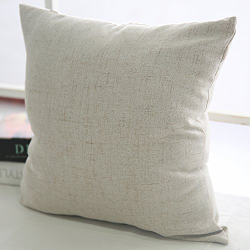Deconovo Textural Faux Linen Throw Cushion Case Pillow Cover with Invisible Zipper for Couch 18 ...