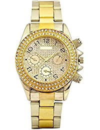 COSMIC GENEVA COLLECTION GOLD AND SILVER THEME COLOR STAINLESS STEEL WATCH