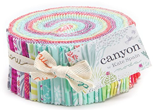 Canyon by Kate Spain Moda Jelly Roll, Set of 40 2.5x44-inch (6.4x112cm) Precut Cotton Fabric Strips (Moda Jelly Rolls For Quilting compare prices)