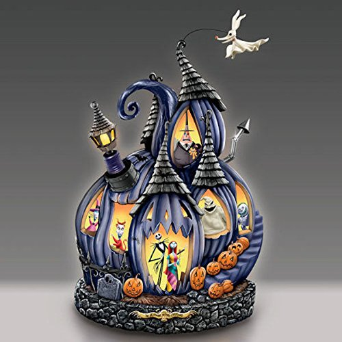Disney Tim Burton's The Nightmare Before Christmas Masterpiece Pumpkin Sculpture