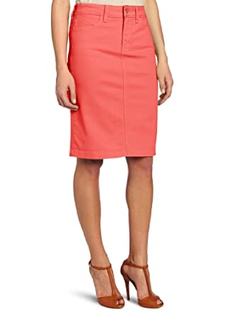 NYDJ Women's Emma Skirt Twill Jean, Papaya, 0