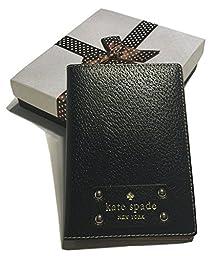Kate Spade Wellesley Passport Holder Case WLRU1236 with Gift Box (Black)