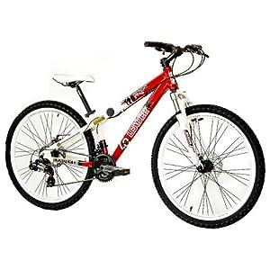 Dirtbike Mountainbike Fahrrad KCP Edge Alu mit 21 Gang weiss rot 26 Zoll
