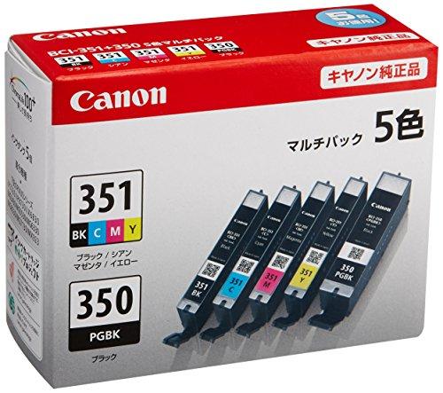Canon キヤノン 純正 インクカートリッジ BCI-351(BK/C/M/Y)+BCI-350 5色マルチパック BCI-351+350/5MP
