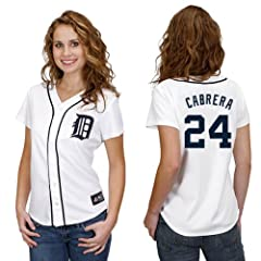 Miguel Cabrera Detroit Tigers Home Ladies Replica Jersey by Majestic by Majestic
