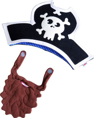 Pirate Hat and Beard Dress-Up Costume Accessory