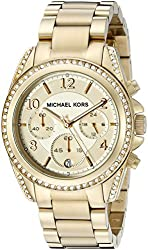 Michael Kors Golden Runway Watch with Glitz MK5166