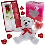 Prextex Valentine's Day Gifts for Her Including Valentine Flower-glass Rose with Love Poem- The Perfect Valentine's Day Gift