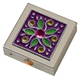 Purple Gem Flower Small Pill Box
