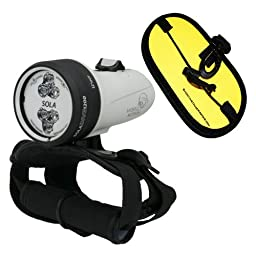 Light and Motion Sola Dive Light 1200 Lumen Spot w/ ShootingUnderwater Float Strap