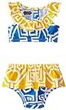 Mud Pie Baby-Girls Infant azul geométrico Bikini, Azul, 12-18meses Color: Azul Tamaño: 12-18meses (Baby/Babe/Infant-Little Ones)