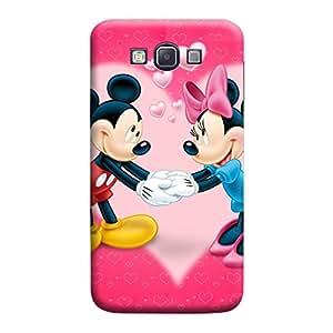 MakemyCase Samsung A7 Micky Mouse Love 3D Matte Finishing Printed Designer Hard Back Case Cover (Pink)