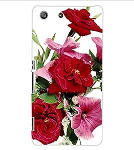 ColourCraft Beautiful Flowers Design Back Case Cover for SONY XPERIA M5 E5603 / E5606 / E5653