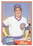 1981 Topps # 837 Joe Strain Chicago Cubs Baseball Card