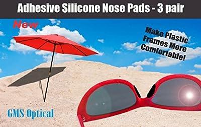 GMS Optical® Premium Silicone Adhesive Half Moon Nose Pads (3 Pair)