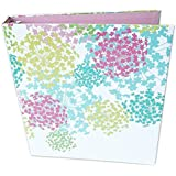 "bloom daily planners Binder (+) 3 Ring Binder (+) 1 Inch Ring (+) 10"" x 11.5"" Inches - Pink Bloom"