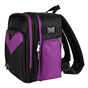 MyVangoddy Fujifilm FinePix HS50 EXR Purple Sparta Collection SLR Camera Backpack available at Amazon for Rs.7793
