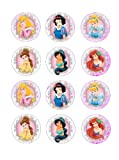 Single Source Party Supply - Disney Princess Cupcakes Edible Icing Image #1