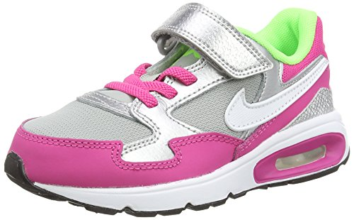 Nike  Air Max St (Psv),  Mädchen Laufschuhe , Mehrfarbig - Multicolor (Hot Pink/White/Metallic Silver/Mint) - Größe: 28EU