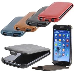 Etui de protection elegant pour Samsung Galaxy S3 avec 4 points de securite innovants de MACOON, couleur:noir