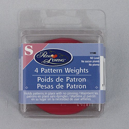 Great Deal! Dritz Fabric Pattern Weights - 4 Pink Vinyl Coated Weights - Hold fabric down for cuttin...