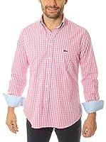 VICKERS Camisa Hombre Harvard (Rosa Claro / Blanco)