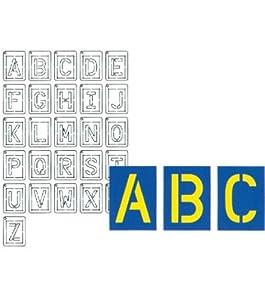 Provo Craft Coluzzle Stencil Alphabet Set - 26 pieces