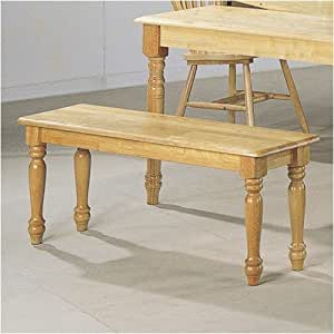 Solid Wood Natural Finish Bench for Dining