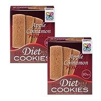 【サニーへルス公式ストア限定セット】ダイエットクッキーおいしさプラス(アップルシナモン:2箱)