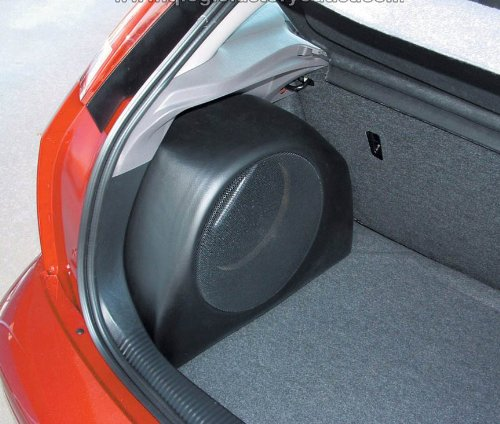 "Q-Logic ""Customs"" Ford Focus Zx3 Svt3 Unloaded 10"" Subwoofer Enclosure C1-Foc110"
