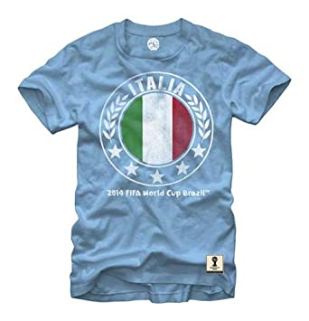Buy FIFA World Cup Soccer - Italia Italy Circle Flag - T-Shirt by Fifth Sun