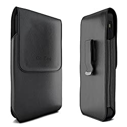 iPhone SE Holster, CellBee Premium PU Leather Vertical Pouch Carrying Case with Belt Clip Holster (Perfect Fits with Otterbox/Spigen/Lifeproof Case on) (Vertical)