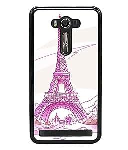 printtech Paris Tower Sketch Cartoon Back Case Cover for Asus Zenfone 2 Laser ZE500KL , Asus Zenfone 2 Laser ZE500KL (5 Inches)