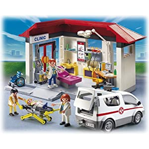playmobil 5012 jeu de construction clinique ambulance m decin clinic jeux et. Black Bedroom Furniture Sets. Home Design Ideas
