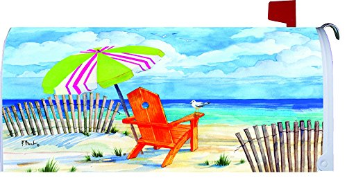 """ Beach Chair "" - Mailbox Makover Cover - Vinyl With Magnetic Strips"