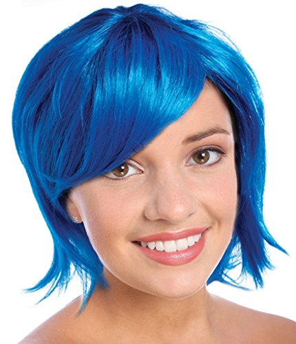 Costume Adventure Blue Joyful Pixie Character Costume Wig For Adults or Kids