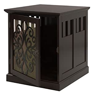 Small Wooden End Table Pet Cage Or Crate For