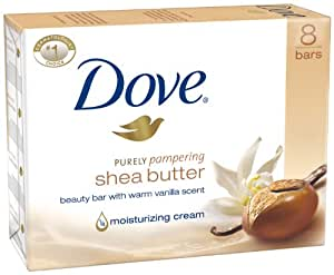 Dove Nourishing Care Shea Butter Beauty Bar, 8 Count, 4 Oz Bars