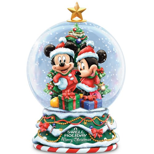 Disney A Swell Holiday Miniature Snowglobe by The Bradford Exchange